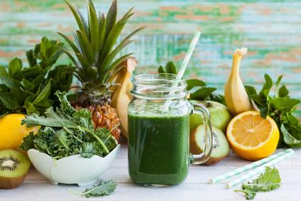 Chlorophyll Freisetzung in grünen Smoothies