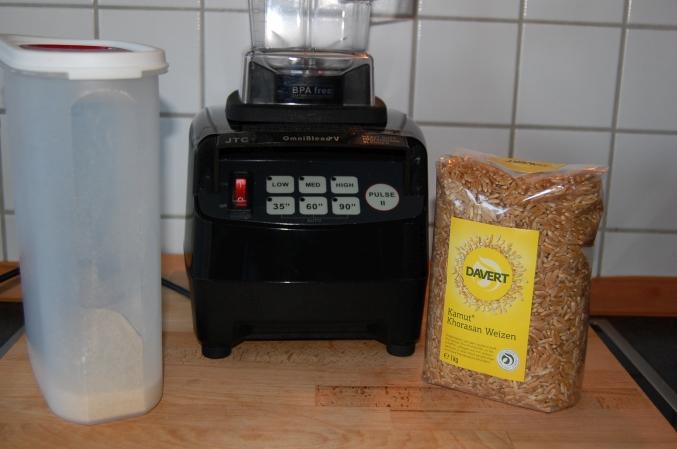 Getreide selber mahlen im Mexer