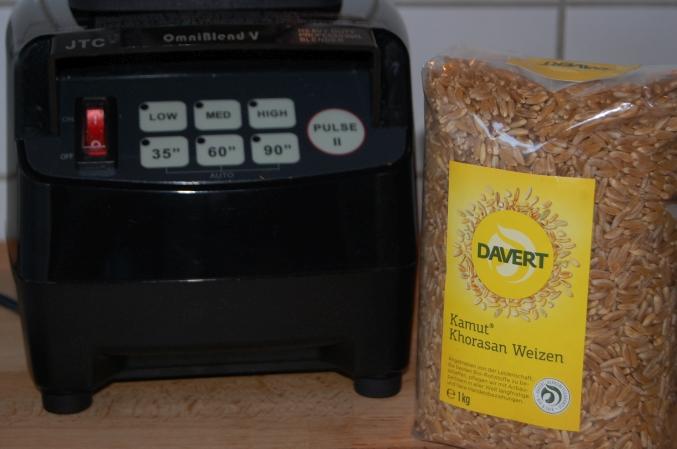 Kamut Khorasan Weizen von Davert, wir mahlen unser Getreide selber