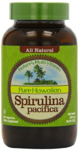 All Natural Pure Hawaiian Spirulina pacifica (NetWt 200g / 400 Tablets-  500mg) -