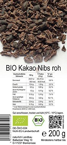 BIO Kakao Nibs roh 200 g -