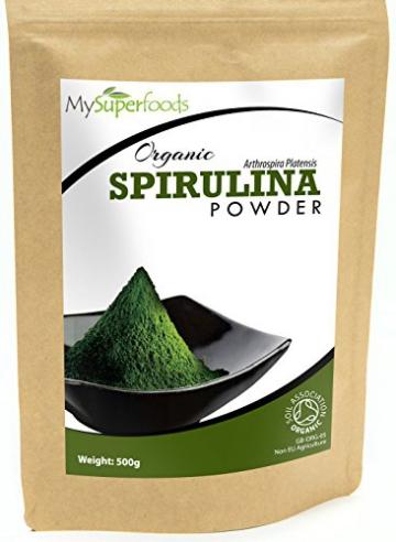 Bio Spirulina-Pulver (500g) | Höchste Qualität | Garantiert organisch durch die Soil Association | Von MySuperfoods -
