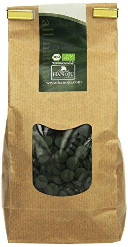 Hanoju Spirulina 400 mg 1250 Tabletten, 1er Pack (1 x 500 g) -