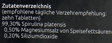 Hanoju Spirulina Premium 400 mg, 1250 Tabletten, 1er Pack (1 x 500 g) -