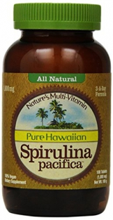 Nutrex Hawaii Hawaiian Spirulina Pacifica 1000 Mgs., 180-Tablet Bottle -