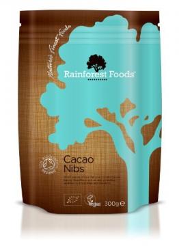 Rainforest Foods Kakaonibs, 1er Pack (1 x 300 g) - Bio -