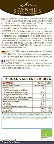 Sevenhills Wholefoods Roh Kakaobohnen Bio 500g -