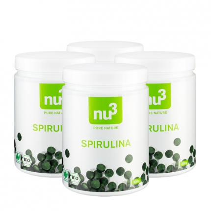 nu3 Bio Spirulina Naturland (4 x 500 g)