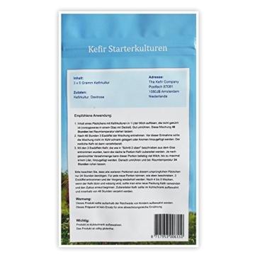 Starterkulturen für Kefir - Für die Zubereitung von mindestens 100 Liter Kefir -