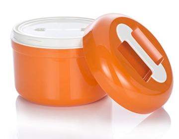 Stromloser Joghurtbereiter von My.Yo in Orange - geöffnet