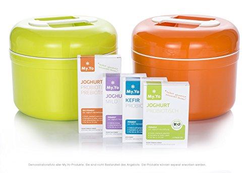 Stromloser Joghurtbereiter von My.Yo in Orange - Kefir und Kultu8ren