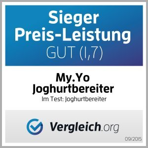 Stromloser Joghurtbereiter von My.Yo in Orange Test