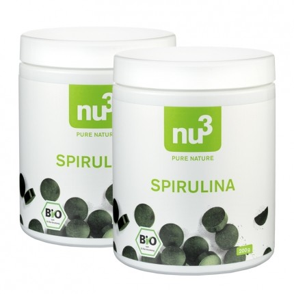 nu3 Bio Spirulina Tabletten (2 x 200 g)