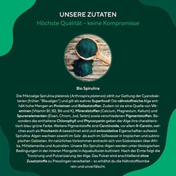 TRUE NATURE® Bio Spirulina Presslinge - 600 Tabletten je 500mg - 6.000mg Hochdosiert - 100% Reine Spirulina Algen aus kontrolliert biologischem Anbau - Vegan, Laborgeprüft, Hergestellt in Deutschland - 5